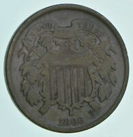 1866 TWO CENT PIECE   CHARLES COIN COLLECTION  672