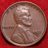 1931 S SAN FRANCISCO MINT COPPER LINCOLN WHEAT CENT