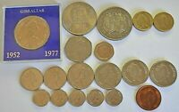 19 GIBRALTAR COINS CROWN POUND TO TWOPENCE 1 2P 1968 1995 AU BU ONE CASED