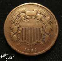 1864 TWO CENT PIECE <> F DETAILS