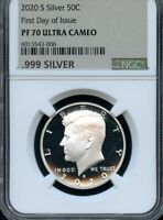 2020 S SILVER KENNEDY 50C FIRST DAY OF ISSUE NGC PF70 ULTRA