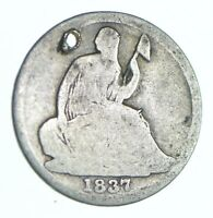 1837 SEATED LIBERTY HALF DIME   HOLED COIN COLLECTION  867