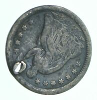1854 O SEATED LIBERTY HALF DIME   HOLED COIN COLLECTION  876
