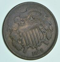 1865 TWO CENT PIECE   CHARLES COIN COLLECTION  667