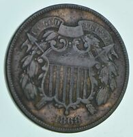 1868 TWO CENT PIECE   CHARLES COIN COLLECTION  686