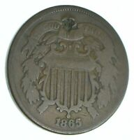 1865 TWO CENT PIECE   HOLED COIN COLLECTION  063