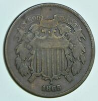 1865 TWO CENT PIECE   CHARLES COIN COLLECTION  662