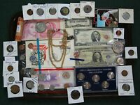 US/WORLD COIN COLLECTION SILVER SET DOLLAR CURRENCY JUNK DRA