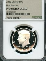 2020 S SILVER KENNEDY HALF DOLLAR FIRST RELEASES NGC PF70 UL