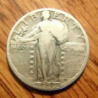1926-S STANDING LIBERTY SILVER QUARTER  CIRCULATED COIN WITH NO PROBLEMS