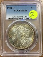 1904-O MORGAN DOLLAR VAM 4B RUSTY FISHHOOK CLASH NECK PITTED REV R-6 HITLIST 40