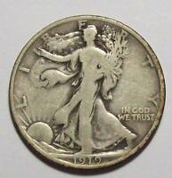 1919-P WALKING LIBERTY HALF DOLLAR ORIGINAL FINE  10C17