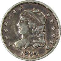 1834 CAPPED BUST HALF DIME XF EF LY FINE DETAILS 89.24  SILVER 5C US COIN