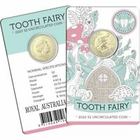 2020 AUSTRALIA TOOTH FAIRY $2 UNCIRCULATED COIN   CARDED