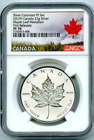 2019 23G CANADA SILVER MAPLE LEAF NGC PF70 REVERSE PROOF FIR