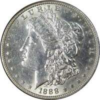 1888 S $1 MORGAN SILVER DOLLAR US COIN AU ABOUT UNCIRCULATED DETAILS