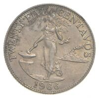 ROUGHLY SIZE OF QUARTER 1966 PHILIPPINES 25 CENTAVOS WORLD S