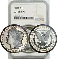 1893 $1 NGC AU 58 DPL BETTER DATE MORGAN SILVER DOLLAR