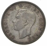 BETTER DATE   1944 GREAT BRITAIN 1/2 CROWN WORLD COIN   SILV