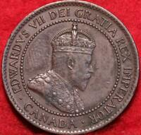 1902 CANADA ONE CENT FOREIGN COIN