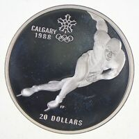 SILVER   HUGE   1985 CANADA 20 DOLLARS   WORLD SILVER COIN