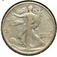 1919 50C WALKING LIBERTY HALF DOLLAR, SEMI-KEY DATE 56067