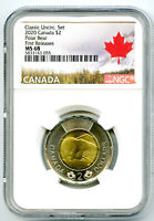 2020 CANADA $2 POLAR BEAR NGC MS68 FIRST RELEASES CLASSIC SE