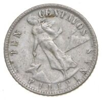 SILVER ROUGHLY SIZE OF DIME 1945 PHILIPPINES 10 CENTAVOS WOR