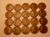LOT OF TWENTY 1915 P CHOICE GOOD BROWN LINCOLN CENTS   LINCOLNS