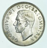 SILVER   WORLD COIN   1944 GREAT BRITAIN 1/2 CROWN   WORLD S