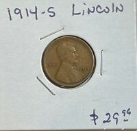 1914 S LINCOLN WHEAT 1C PENNY