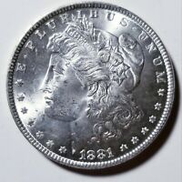 1881 MORGAN SILVER DOLLAR GRADING GEM BU PRICED RIGHT SHIPPED FREE  E22