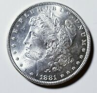 1881 MORGAN SILVER DOLLAR GRADING GEM BU PRICED RIGHT SHIPPED FREE  E24