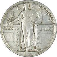 1921 25C STANDING LIBERTY SILVER QUARTER COIN EXTRA FINE  EF  FINE