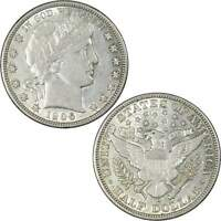 1906 D BARBER HALF DOLLAR AU ABOUT UNCIRCULATED 90  SILVER 50C US TYPE COIN