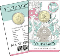 2020 AUSTRALIA $2 UNC    TOOTH FAIRY COIN IN CARD