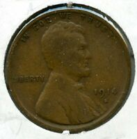 1914-S LINCOLN WHEAT CENT PENNY - SAN FRANCISCO MINT BJ212