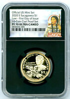 2020 S $1 SACAGAWEA PROOF NGC PF70 UCAM FIRST DAY OF ISSUE D