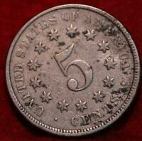 1876 PHILADELPHIA MINT SHIELD NICKEL