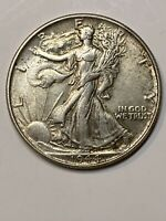 1944 SILVER WALKING LIBERTY HALF DOLLAR 50C ABOUT UNCIRCULATED 50 COIN