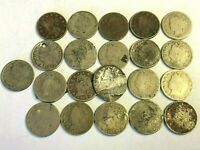 21 X LIBERTY HEAD NICKELS US 5C NICKEL CULL & DAMAGED LOT