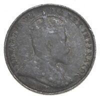 SILVER ROUGHLY THE SIZE OF A DIME 1907 CANADA 5 CENTS WORLD