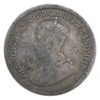 SILVER ROUGHLY THE SIZE OF A DIME 1920 CANADA 5 CENTS WORLD