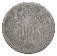 FIRST US NICKEL WORN DATE SHIELD NICKEL US TYPE COIN OVER 10