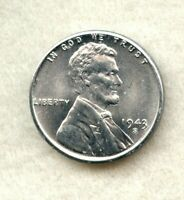 1943 S  LINCOLN WHEAT CENT  GEM BU