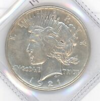 1921 HIGH RELIEF PEACE DOLLAR X/F AU  KEY DATE FIRST YEAR OF