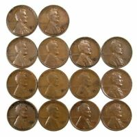 LOT OF 14 1932 D LINCOLN WHEAT CENT PENNIES F/F WITH MEDIUM BLEMISHES 155096