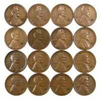 LOT OF 16 1932 D LINCOLN WHEAT CENT PENNIES F/F WITH LIGHT BLEMISHES 155095