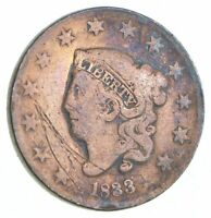 TOUGH   1833 MATRON HEAD LARGE CENT   US EARLY COPPER COIN