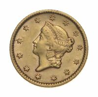 $1.00 UNITED STATES GOLD COIN   1853 $1 LIBERTY HEAD   HISTO